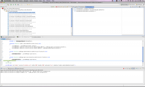 Debug view of the application in Flash builder 4